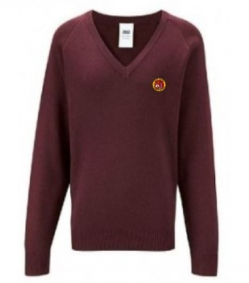 WEST LINTON PRIMARY SCHOOL KNITTED V-NECK JUMPER
