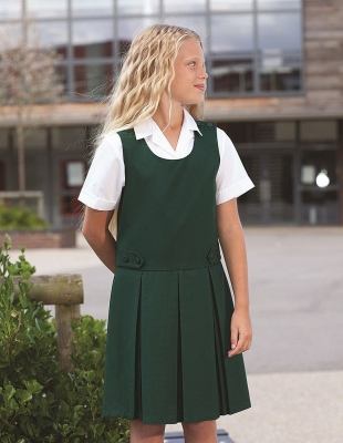 BANNER TENBY DOUBLE BOX PLEAT PINAFORE