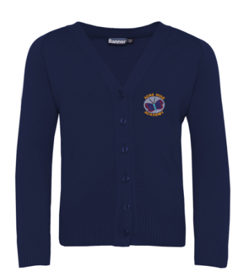 ACRE RIGG ACADEMY KNITTED CARDIGAN WITH INDIVIDUAL NAME