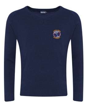 ACRE RIGG ACADEMY KNITTED V-NECK JUMPER WITH INDIVIDUAL NAME
