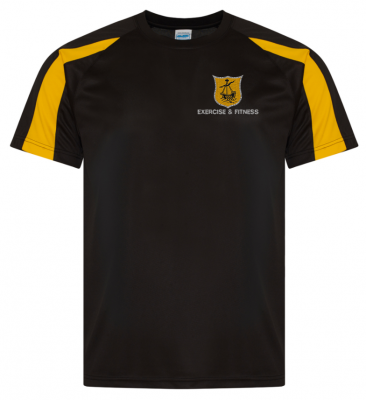 OBAN HS EXERCISE & FITNESS CONTRAST T-SHIRT