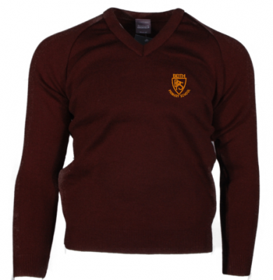 BEITH PRIMARY SCHOOL KNITTED V-NECK JUMPER