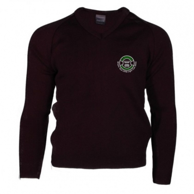 CANMORE SCHOOL KNITTED V NECK