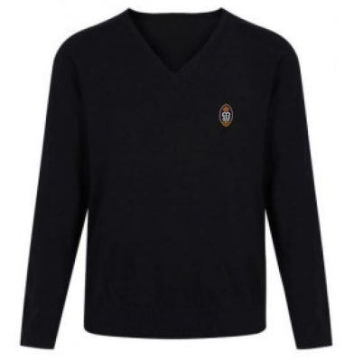 ST MUNGOS ACADEMY KNITTED V-NECK JUMPER