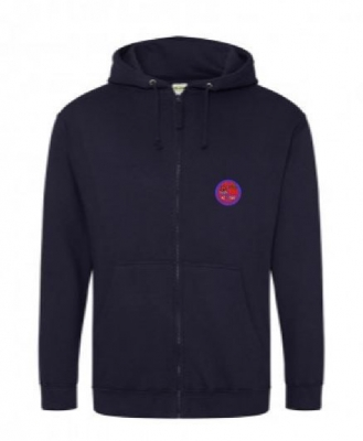 BURNTISLAND STAFF ZIPPED HOODIE (WITH NAME ON BACK)