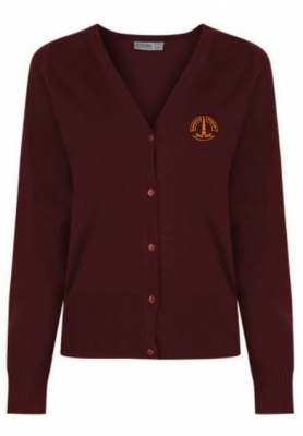 LANGHOLM KNITTED COTTON ACRYLIC CARDIGAN