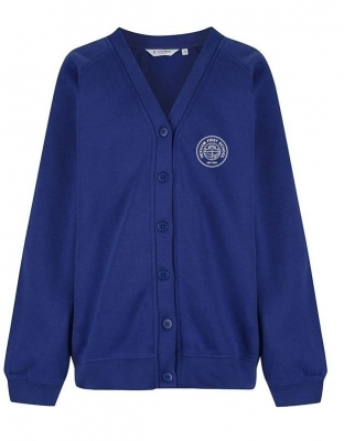 HEXHAM FIRST SCHOOL CARDIGAN WITH INDIVIDUAL NAME