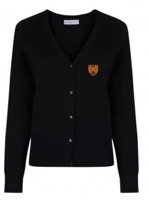 GRANGEMOUTH HS GIRLS FIT KNITTED CARDIGAN
