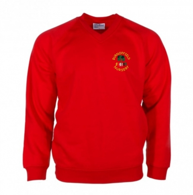 BURNOPFIELD NURSERY SWEATSHIRT WITH INITIALS ON THE RIGHT CHEST