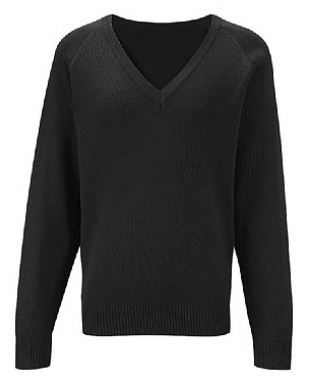 KNOX ACADEMY KNITTED V-NECK JUMPER WITHOUT LOGO