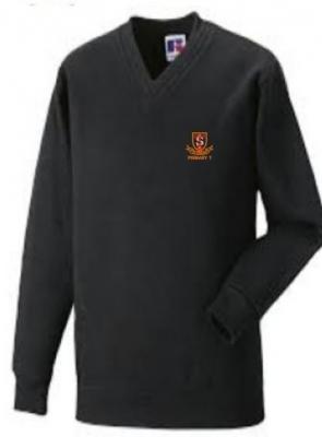 ST THOMAS PRIMARY 7 SCHOOL V-NECK SWEATSHIRT