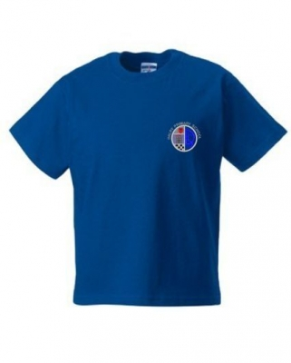 DALRY PRIMARY SCHOOL 'ALBA HOUSE' T-SHIRT WITH NAMES PRINTED ON BACK