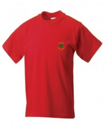 WOOLER FIRST SCHOOL T-SHIRT (WITH PUPILS NAME)