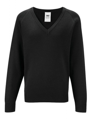 Knitted V-neck Sweatshirt