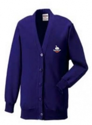 SWANSFIELD PARK PRIMARY SCHOOL CARDIGAN (WITH PUPILS NAME)