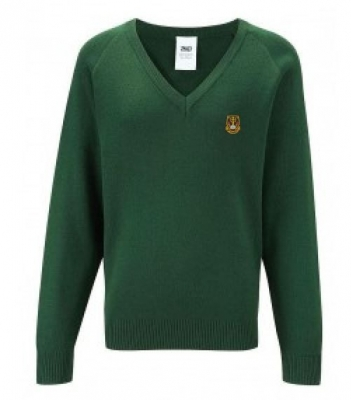ST DOMINICS RC PRIMARY SCHOOL KNITTED V-NECK JUMPER