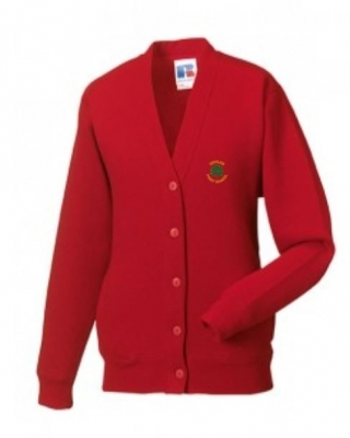 WOOLER FIRST SCHOOL CARDIGAN (WITH PUPILS NAME)
