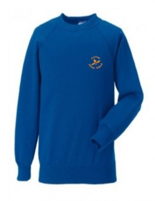 OAKFIELD JUNIOR SWEATSHIRT (WITH PUPILS NAME)
