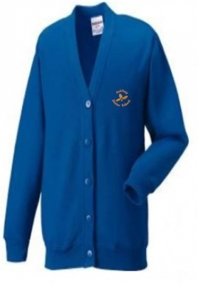OAKFIELD JUNIOR CARDIGAN (WITH PUPILS NAME)