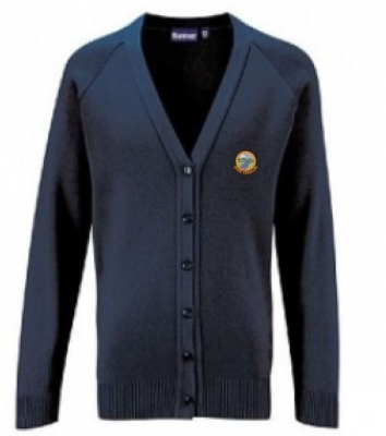 STOW PRIMARY SCHOOL KNITTED CARDIGAN