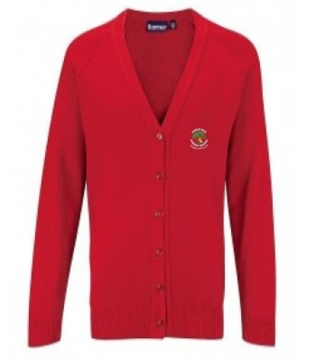 SHIELD ROW PRIMARY SCHOOL KNITTED CARDIGAN