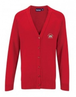 WHALTON C of E PRIMARY SCHOOL KNITTED CARDIGAN