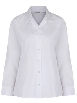 TRUTEX LONG SLEEVE NON-IRON REVER COLLAR BLOUSE (TWIN PACK)