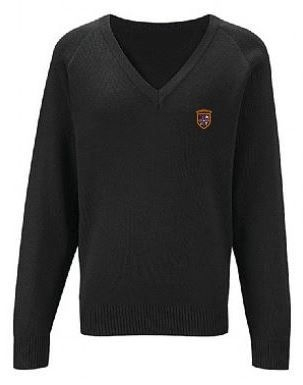 ST BENEDICTS PRIMARY SCHOOL KNITTED V-NECK JUMPER