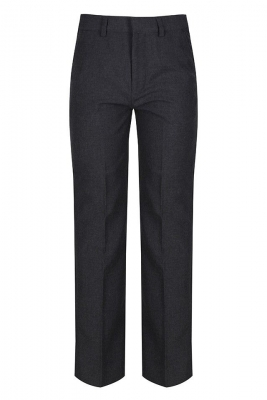 JUNIOR BOYS CLASSIC FIT TROUSER - GREY