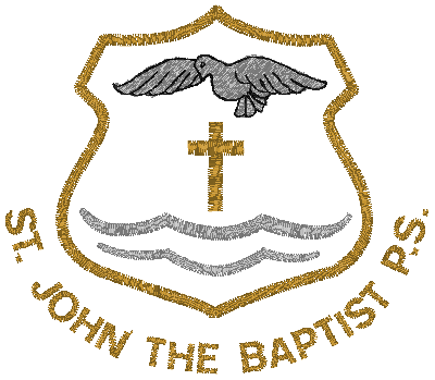 ST JOHN THE BAPTIST BADGE