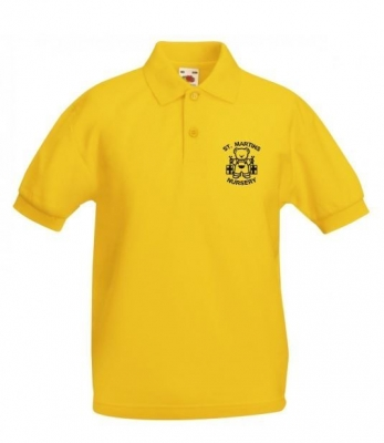 ST MARTINS NURSERY YELLOW POLOSHIRT