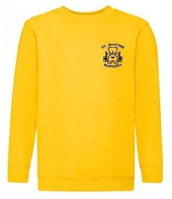 ST MARTINS NURSERY YELLOW SWEATSHIRT