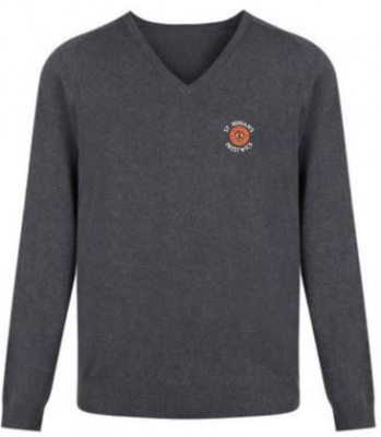 ST NINIAN'S PS KNITTED V-NECK JUMPER
