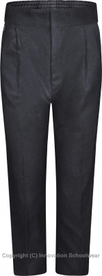 BOYS SLIM FIT TROUSERS - CHARCOAL