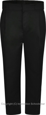 BOYS STURDY FIT TROUSER - BLACK