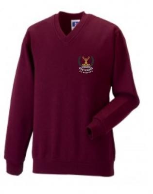 GREYFRIARS RC PRIMARY SCHOOL VNECK SWEATSHIRT