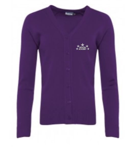 SEATON ACADEMY KNITTED CARDIGAN
