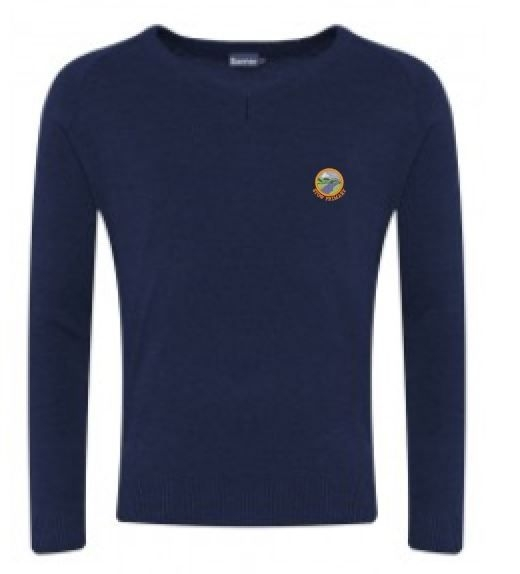 STOW PRIMARY SCHOOL KNITTED V-NECK JUMPER
