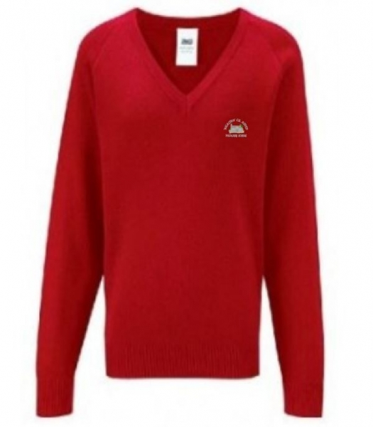WHALTON C of E PRIMARY SCHOOL KNITTED VNECK