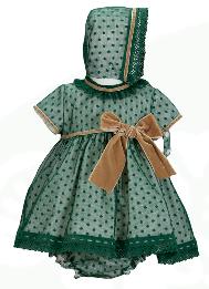 manolita - green polka dot baby dress