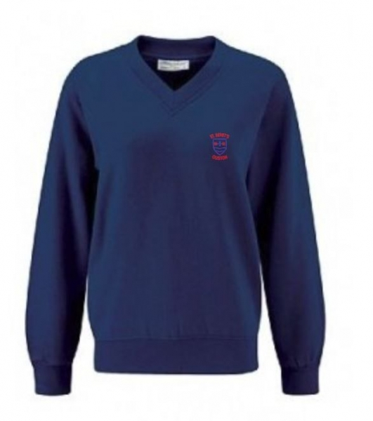 ST BENETS PRIMARY SCHOOL V-NECK SWEATSHIRT