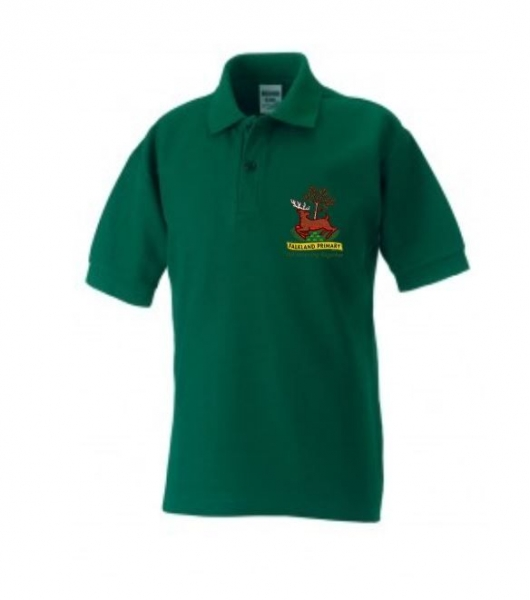 FALKLAND PRIMARY SCHOOL POLOSHIRT WITH PUPILS NAME