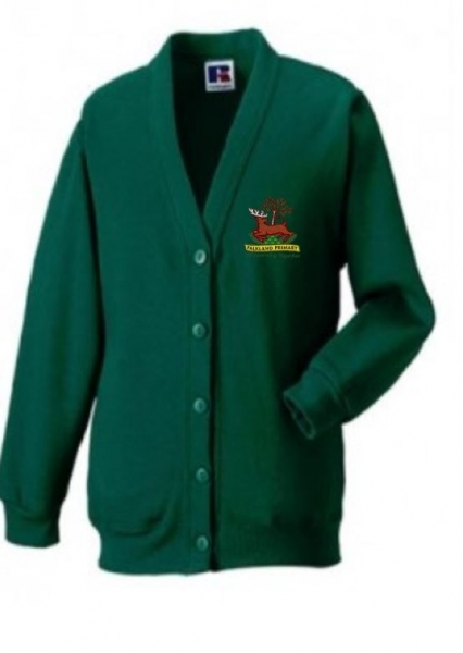 FALKLAND PRIMARY SCHOOL CARDIGAN WITH PUPILS NAME