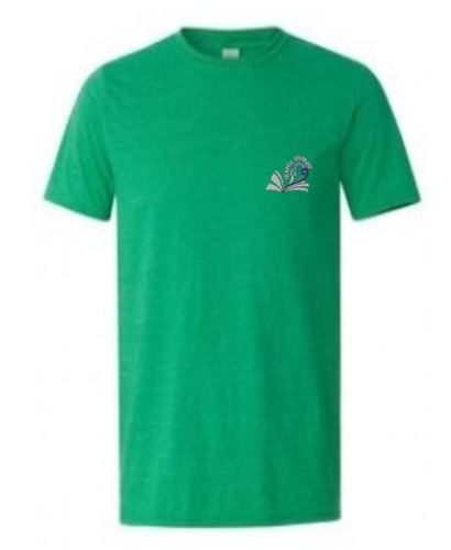 NEWHILL PRIMARY SCHOOL 'MARLEE' HOUSE GREEN ADULT TSHIRT WITH PRINT