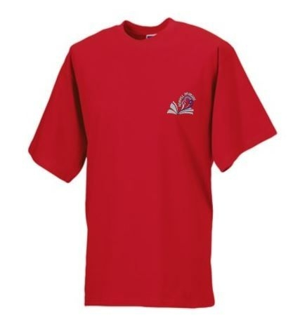 NEWHILL PRIMARY SCHOOL 'LANSDOWNE' HOUSE RED ADULT T-SHIRT WITH PRINT