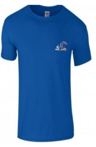 NEWHILL PRIMARY SCHOOL 'NEWTON' HOUSE BLUE KIDS TSHIRT WITH PRINT