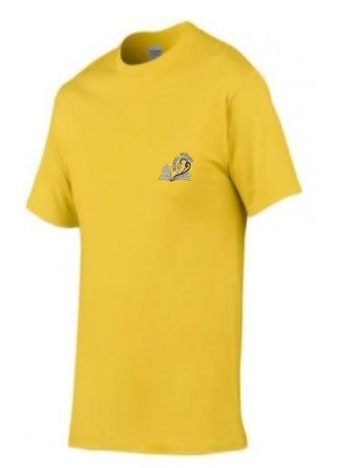 NEWHILL PRIMARY SCHOOL 'ARDBLAIR' HOUSE YELLOW ADULTS TSHIRT WITH PRINT