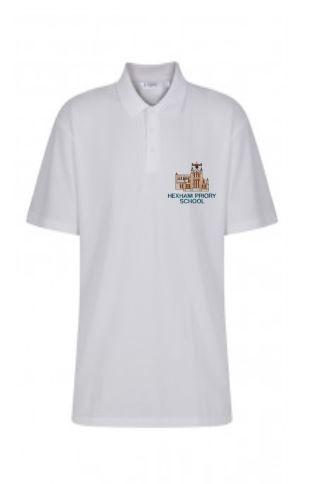 HEXHAM PRIORY SCHOOL POLOSHIRT (JADE GREEN LOGO)