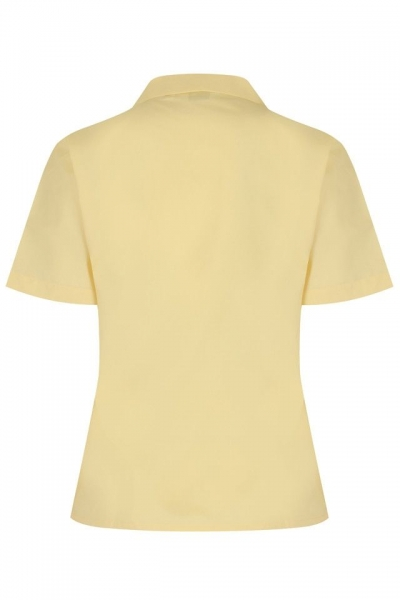 NON IRON SHORT SLEEVE POLYCOTTON BLOUSE - TWIN PACK - GOLD