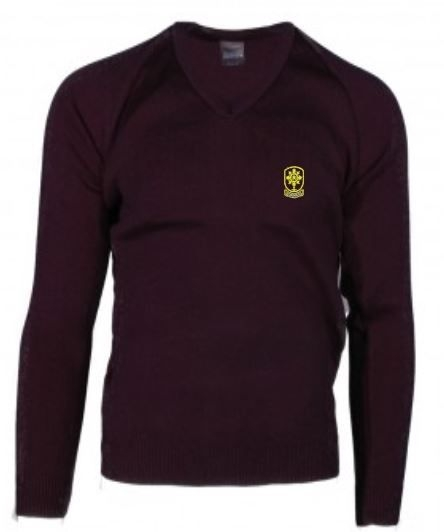 ST MONICAS PRIMARY SCHOOL KNITTED V-NECK JUMPER